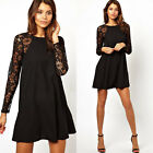 Sexy New Women Summer Casual Long Sleeve Party Evening Cocktail Short Mini Dress