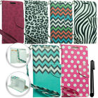 For Samsung Galaxy Avant G386T Flap LEATHER Skin POUCH Case Phone Cover + Pen