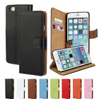 Genuine Real Leather Flip Card Wallet Stand Case Cover For iPhone 4S 5S 6 Plus