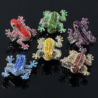 Fashion Animal Frog Crystal Glass Elastic Stretchy Finger Ring Size 9 Gift Cool