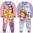 OFFICIAL SOFIA THE FIRST AND DISNEY PRINCESS GIRLS FLEECE ONESIE AGES 2 TO 8