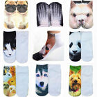 1 Pair Novelty Men Women Fashion Cotton 3D Printed Animals Low Cut Ankle Socks