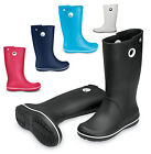 Womens Crocs Crocband Jaunt Fashion Wellies Slip On Wellington Boots Size 3-9 UK