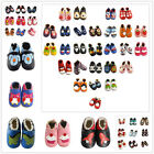 New Cartoon Infant Baby Boy Girl Leather Woolen Soft Sole Crib Shoes UK Size123