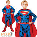 Superman Boys Fancy Dress DC Comic Book Superhero Kids Childrens Costume Outfit