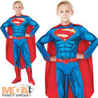 Deluxe Superman Boys Fancy Dress Comic Superhero Kids Childrens Costume Outfit