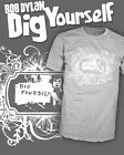 Bob Dylan - Dig Yourself - Retro Vintage Folk Rock T-Shirt - Scoop V-Neck Raglan