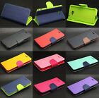 Dual Color Deluxe Wallet Leather Flip TPU Stand Case Cover For Sony Xperia Phone