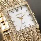 Taylor Cole 3 Colors Ladies Women Square Bling Crystal Quartz Wrist Watch + Box