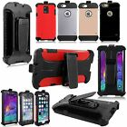 Hard Soft Built In Screen Protect Belt Clip Kickstand Case For Many Phones Model