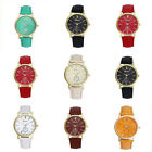 New Geneva Unisex Leather Band Analog Quartz Vogue Wristwatch Watches Cheap