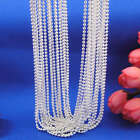 "Lot 5Pcs Fashion 925 Sterling Silver Beads Chain Plated Necklace 16""-28"" Jf1209"