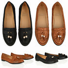 WOMENS LADIES FASHION FLAT CASUAL TASSEL WORK OFFICE PRINTED LOAFERS SHOES SIZE
