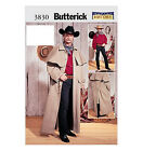 Sew & Make Butterick 3830 SEWING PATTERN - Mens Antique WESTERN COATS COSTUMES