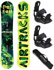 AIRTRACKS SNOWBOARD SET:ZEBRA LADY+BINDUNG FLOW HAYLO+SB BAG /140 145 150 155cm/