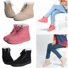 Women's Fashion Boots Comfort Shoes Flat Lace UP Ankle Winter Warm Snow Boot New