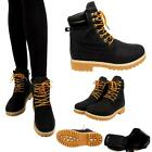 LADIES ZIP COMBAT LACE ANKLE HIKER WOMENS  GRIP SOLE BIKER WINTER BOOTS TRAINER