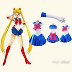 Sailor Moon Blue Costume Cosplay Uniform Fancy Dress Party Club Outfit AF 3261