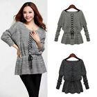 Vogue Womens Long Sleeve Haltered Knitted Sweater Cardigan Tops T-Shirt Jumper