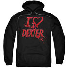 Dexter TV Show I Heart Dexter Licensed Adult Pullover Hoodie S-3XL