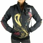 NEW ED HARDY CHRISTIAN AUDIGIER WOMEN'S PREMIUM JACKET BLACK PANTHER SIZE XS