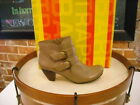 Bare Traps Tarlene TAUPE Double Buckle Ankle Boots NEW
