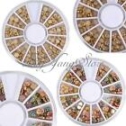3D Nail Art Rhinestones Pearl Gems Beads Acrylic Tips Decoration Manicure Wheel