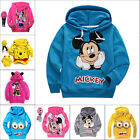 Mickey/Minnie Mouse Kids Boys Girls Cotton Hoodies Unisex Clothes Outwear 2-7Y