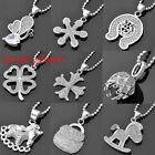 White Gold Plated Fashion Charm Jewelry Pendant Crystal Sweater Chain Necklace