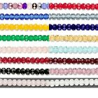 20 Czech Glass 5mm x 4mm Faceted Fire Polished Rondelle Spacer Beads