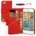 New Leather Wallet Flip Case Cover For APPLE iPod Touch 5 5th Generation 5G