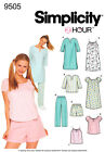 Sew & Make Simplicity 9505 SEWING PATTERN - Womens Sleep Lounge PAJAMAS GOWNS
