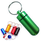 New Aluminum Pill Box Case Medicine Bottle Holder Container Keychain Waterproof