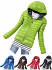 Women Fashion Ultralight Warm Hardwear Slim Hooded Coat Short Jacket Parka