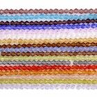 1Strand 3mm 4mm 6mm Multi-color Crystal Glass Bicone Faceted Loose Bead Gift