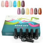 12PCS Nail Art Color Soak Off Polish Kit UV Glitter Gel UV Lamp Tips Decoration