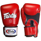 Fairtex Tight-Fit Design Universal Breathable Boxing Gloves - Red