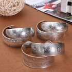 Women Chinese Tibetan Tibet Silver Totem Bangle Cuff Bracelet Ethnic Jewelry HOT