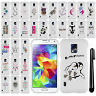 For Samsung Galaxy S5 Active G870A Art Cute Design HARD Case Cover Phone + Pen
