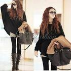 2015 Women Oversized Batwing Long Sleeve Knit Sweater Loose Jumper Pullover Tops