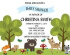 Woodland Animals Baby Shower or Birthday Party Invitations Personalized Custom