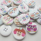 New 30/150pcs European Owl Wood Buttons 30mm Sewing Craft Mix Lots Wholesales