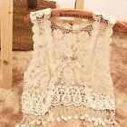 Women Sweet Hollow-Out Embroidered Lace Crochet Casual Shawl Tops Blouse Tassel