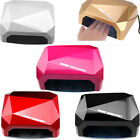 36W LED CCFL Nail Dryer EU 7 Colours Diamond Shaped Curing Gel Nail Polish UV