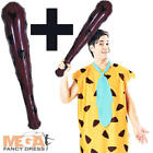 Fred Flintstone + Club Adults Fancy Dress 1960s Cartoon Mens 60s Costume Outfit