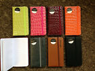 A7 Slim Pocket Notebook, Lined, Elastic Close 7 Colours Pink Green Black Brown