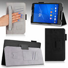"Folio PU Leather Slim Fit Case Stand Cover for Sony Xperia Z3 Compact 8"" Tablet"