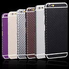 Carbon Fiber Full Body Film Screen Protector Wrap Skin For Samsung S4 iPhone 6