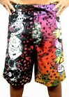BRAND NEW ED HARDY MEN'S GRAPHIC BOARD SHORTS TRUNKS GAMBLE SKULL DESIGN