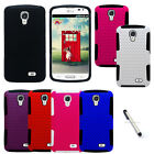 For LG Access F70 L31G Apex Hybrid Protector Cover Case Accessory + Stylus